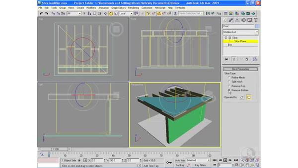 The Slice modifier: 3ds Max 2009 Essential Training