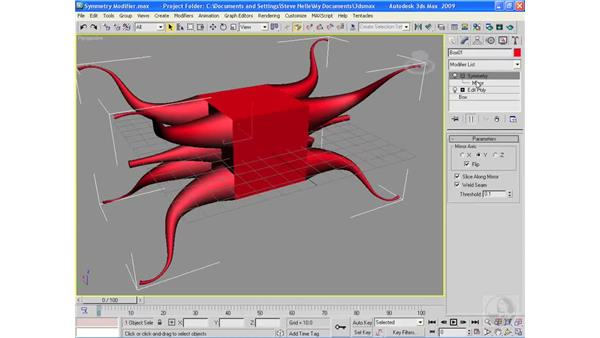 The Symmetry modifier: 3ds Max 2009 Essential Training