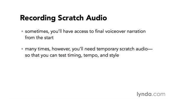 Introduction to recording scratch audio: Video Post Tips Weekly