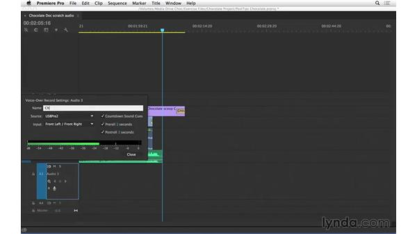 Recording scratch audio in Premiere Pro: Video Post Tips Weekly
