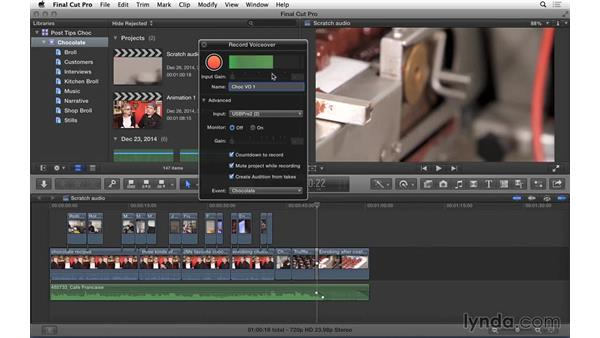 Recording scratch audio in FCP X: Video Post Tips Weekly