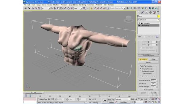 Using the Symmetry modifier for character modeling: 3ds Max 2009 Essential Training