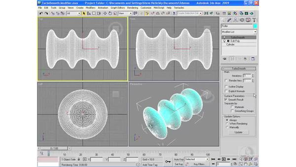 The TurboSmooth modifier: 3ds Max 2009 Essential Training