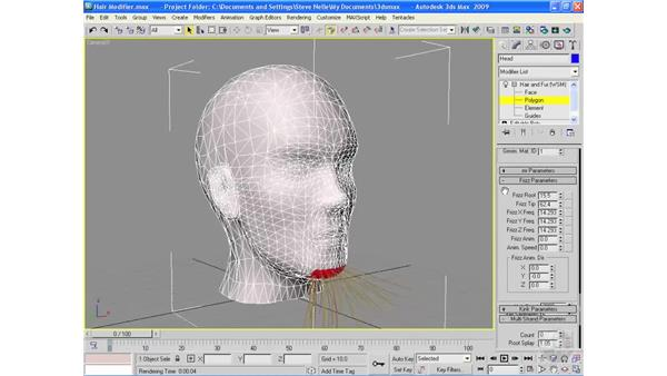 The Hair and Fur modifier: 3ds Max 2009 Essential Training