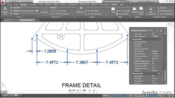 Baseline and continued linear dimensions: Working with Dimensions in AutoCAD