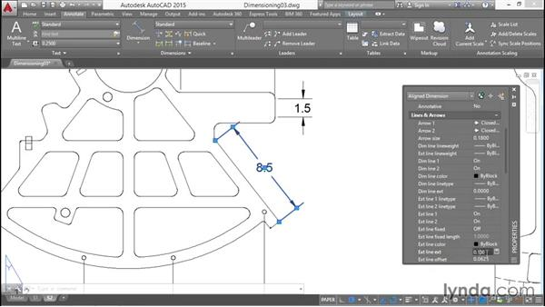 Aligned and angular dimensions: Working with Dimensions in AutoCAD