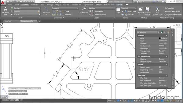 Dimension style overrides: Working with Dimensions in AutoCAD