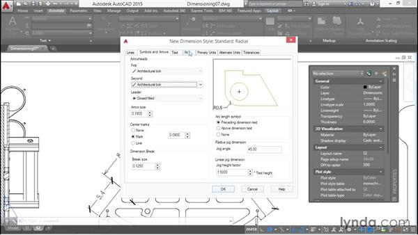 Creating dimension substyles: Working with Dimensions in AutoCAD