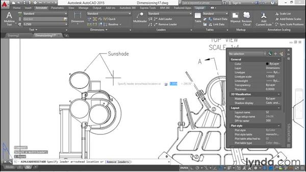 Making leaders: Working with Dimensions in AutoCAD