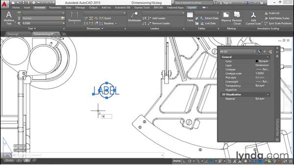 Attaching blocks to leaders: Working with Dimensions in AutoCAD