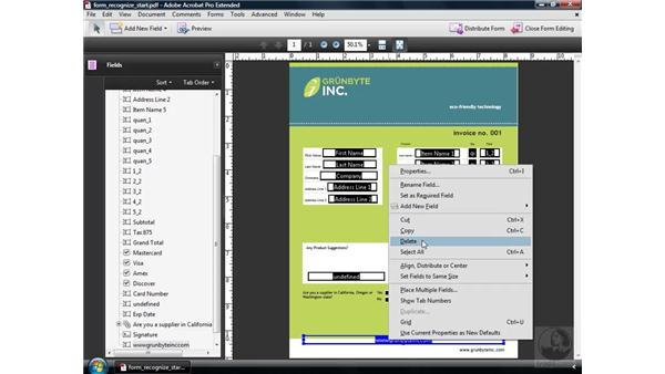 Editing form fields: Acrobat 9 Pro: Creating Forms