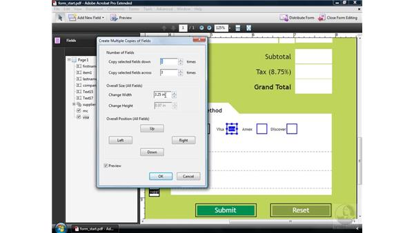 Creating multiple fields: Acrobat 9 Pro: Creating Forms