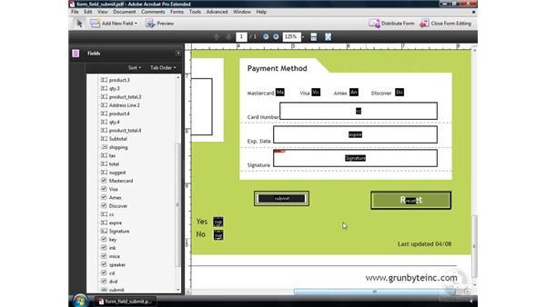 Creating a Submit Form button: Acrobat 9 Pro: Creating Forms