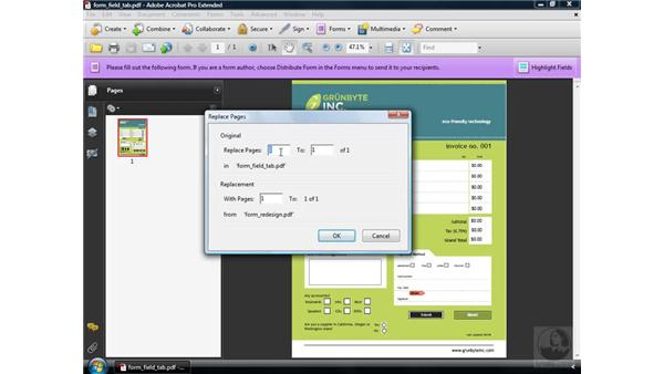 Changing form design: Acrobat 9 Pro: Creating Forms