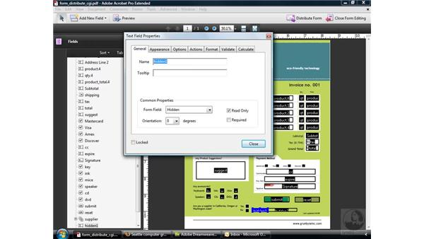 Distributing forms via a website: Acrobat 9 Pro: Creating Forms