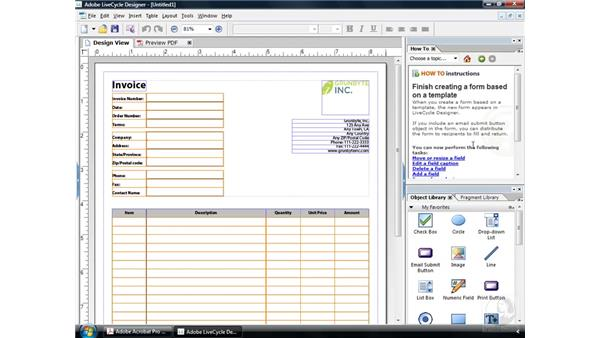 Creating a form from a template: Acrobat 9 Pro: Creating Forms