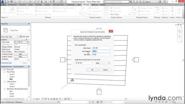 Specifying coordinates at a point: Managing Location Coordinates with Revit