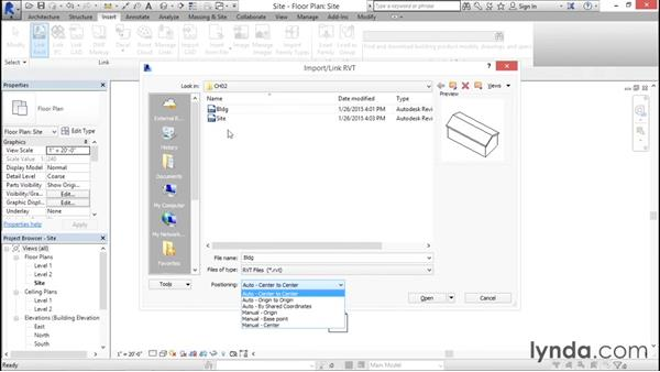 Orienting a linked file: Managing Location Coordinates with Revit