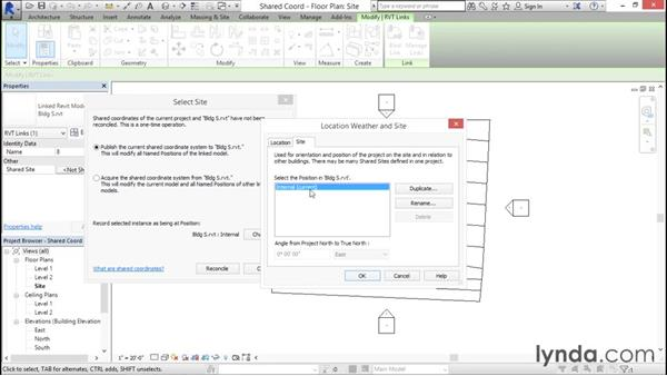 Saving shared coordinates: Managing Location Coordinates with Revit