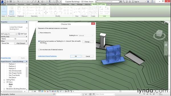 Copying linked files: Managing Location Coordinates with Revit