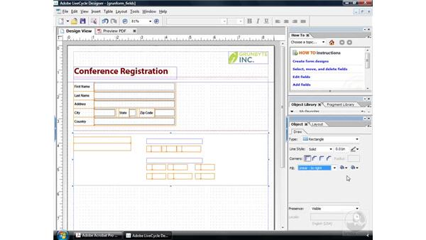 Arranging content: Acrobat 9 Pro: Creating Forms