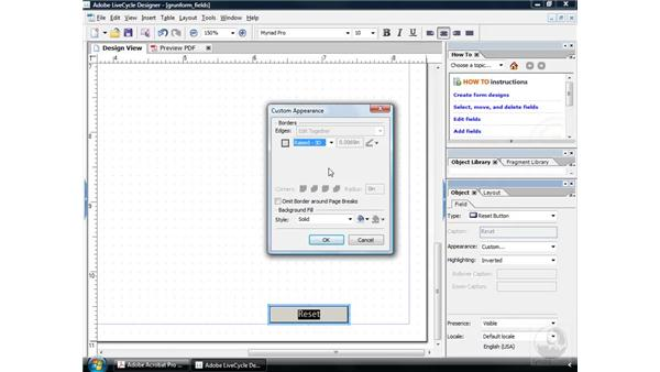 Creating a Reset button: Acrobat 9 Pro: Creating Forms