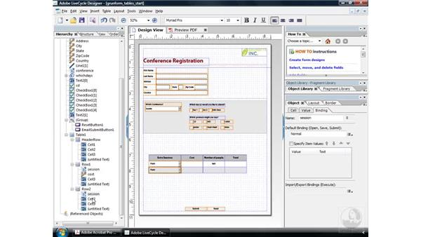 Copying within a table: Acrobat 9 Pro: Creating Forms