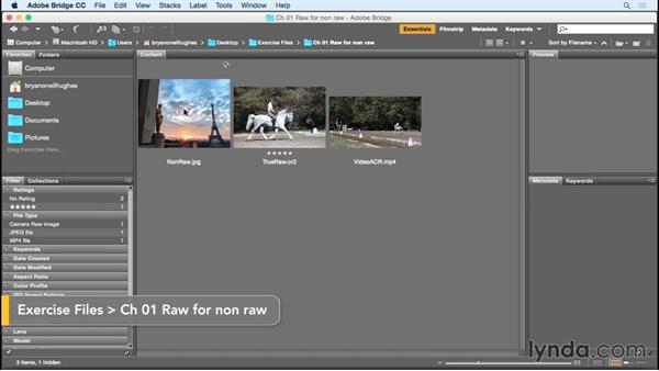 Passing nonraw files to Camera Raw: Photoshop Insider Training: Rethinking the Essentials
