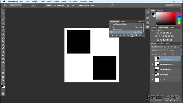 Layer comps: Photoshop Insider Training: Rethinking the Essentials
