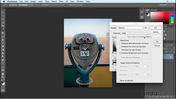 Auto made better (Brightness/Contrast, Levels, and Curves): Photoshop Insider Training: Rethinking the Essentials