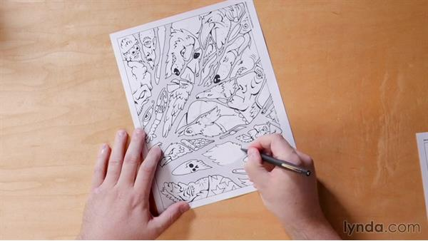 Day 1 solution: Branch out your drawing: 5-Day Drawing Challenge: Drawing Closer to Nature