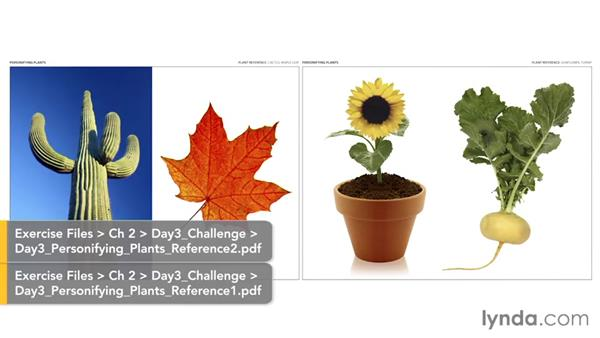 Day 3 challenge: Personifying plants: 5-Day Drawing Challenge: Drawing Closer to Nature
