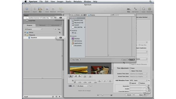 Using managed libraries or referenced files: Aperture 2 Essential Training