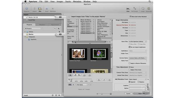 Importing iPhoto libraries: Aperture 2 Essential Training