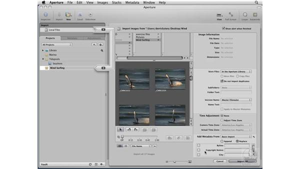 Importing images from a hard drive: Aperture 2 Essential Training