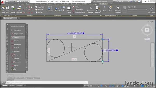 Adding tangent circles and constraining them to stay tangent: Designing Dynamic Blocks in AutoCAD