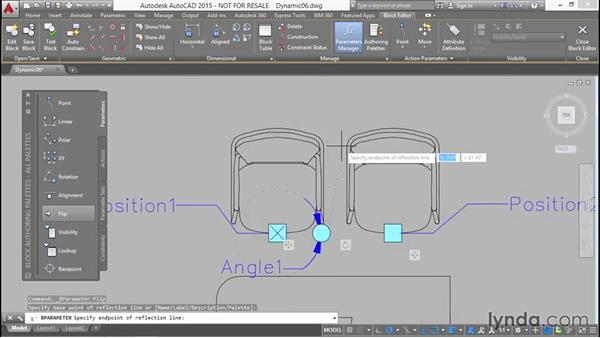Adding position and flip grips to mirror chairs: Designing Dynamic Blocks in AutoCAD