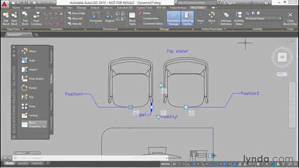 Controlling the visibility of objects from a menu: Designing Dynamic Blocks in AutoCAD