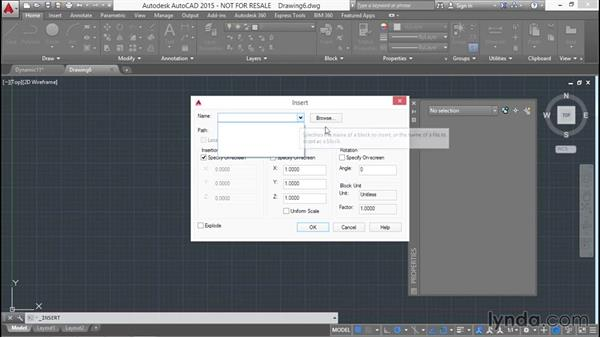 Writing and inserting blocks to and from files: Designing Dynamic Blocks in AutoCAD