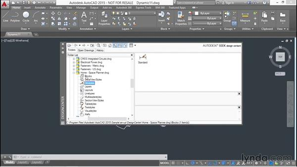 Using DesignCenter to access a drawing's block tables: Designing Dynamic Blocks in AutoCAD