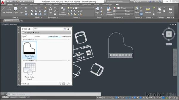 Searching for blocks with the Content Manager: Designing Dynamic Blocks in AutoCAD