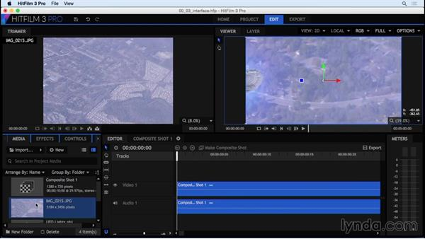 Introduction to the interface: HitFilm 3 Pro Essential Training