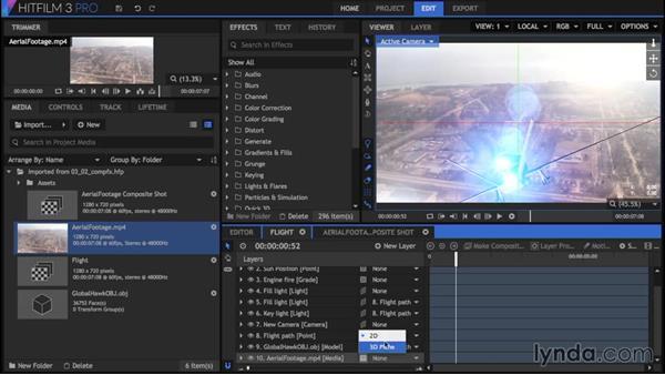 Creating a composite: HitFilm 3 Pro Essential Training