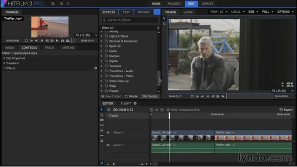 Color grading and enriching: HitFilm 3 Pro Essential Training