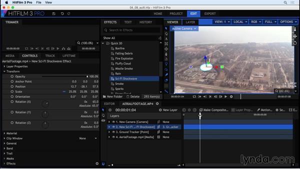 Adding shock waves: HitFilm 3 Pro Essential Training