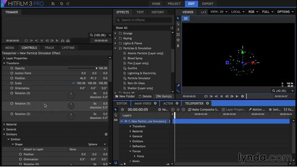 Creating a transporter effect: Part two: HitFilm 3 Pro Essential Training