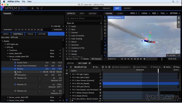 Creating a CGI crash with debris: HitFilm 3 Pro Essential Training