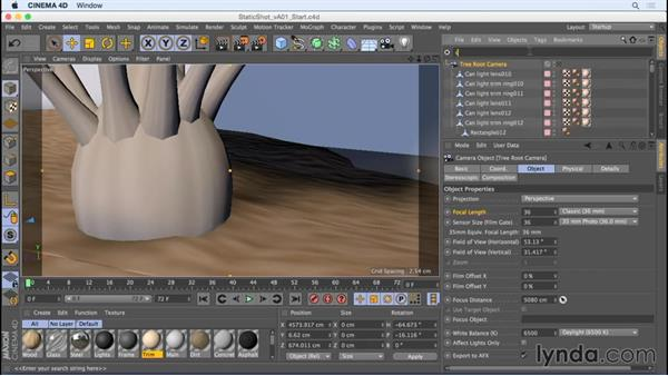 Framing a static shot: Camera Animation with CINEMA 4D