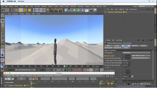 Animating a snap zoom: Camera Animation with CINEMA 4D
