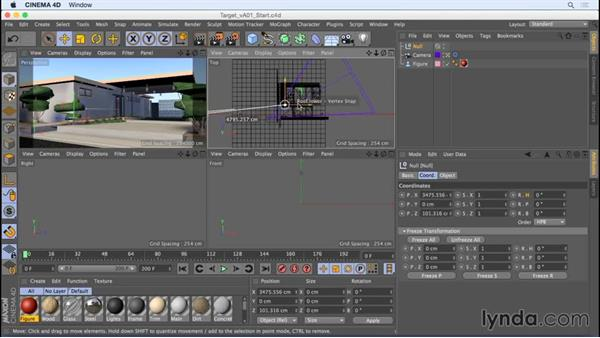 Automatically targeting your camera at your subject: Camera Animation with CINEMA 4D
